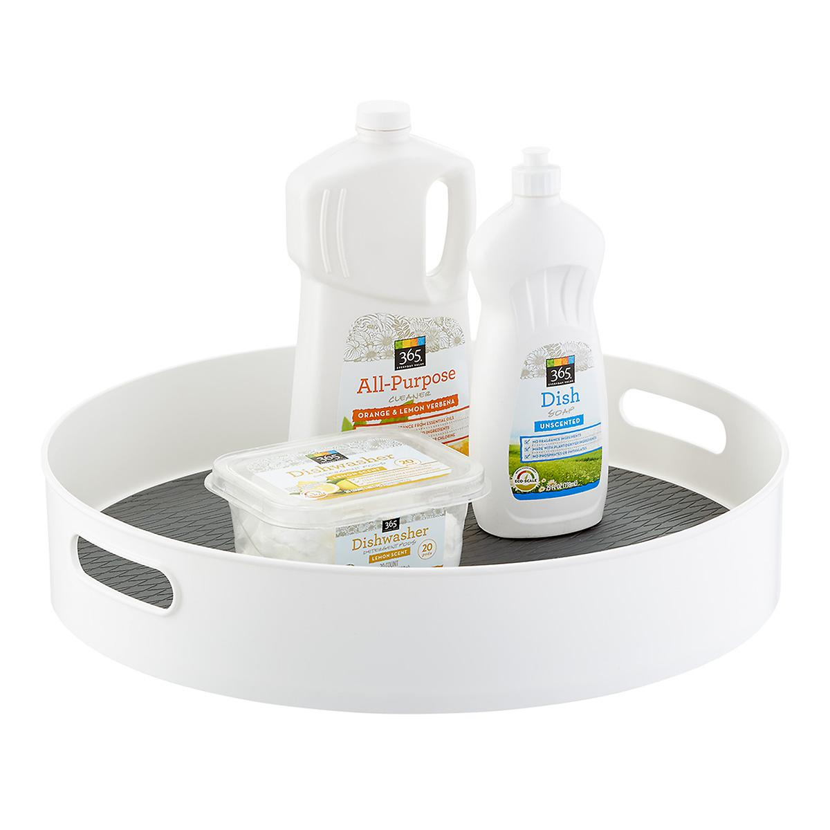 White Under Sink Lazy Susan
