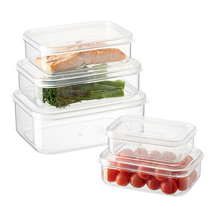 Lustroware Crystal Clear Nested Rectangular Food Storage Containers