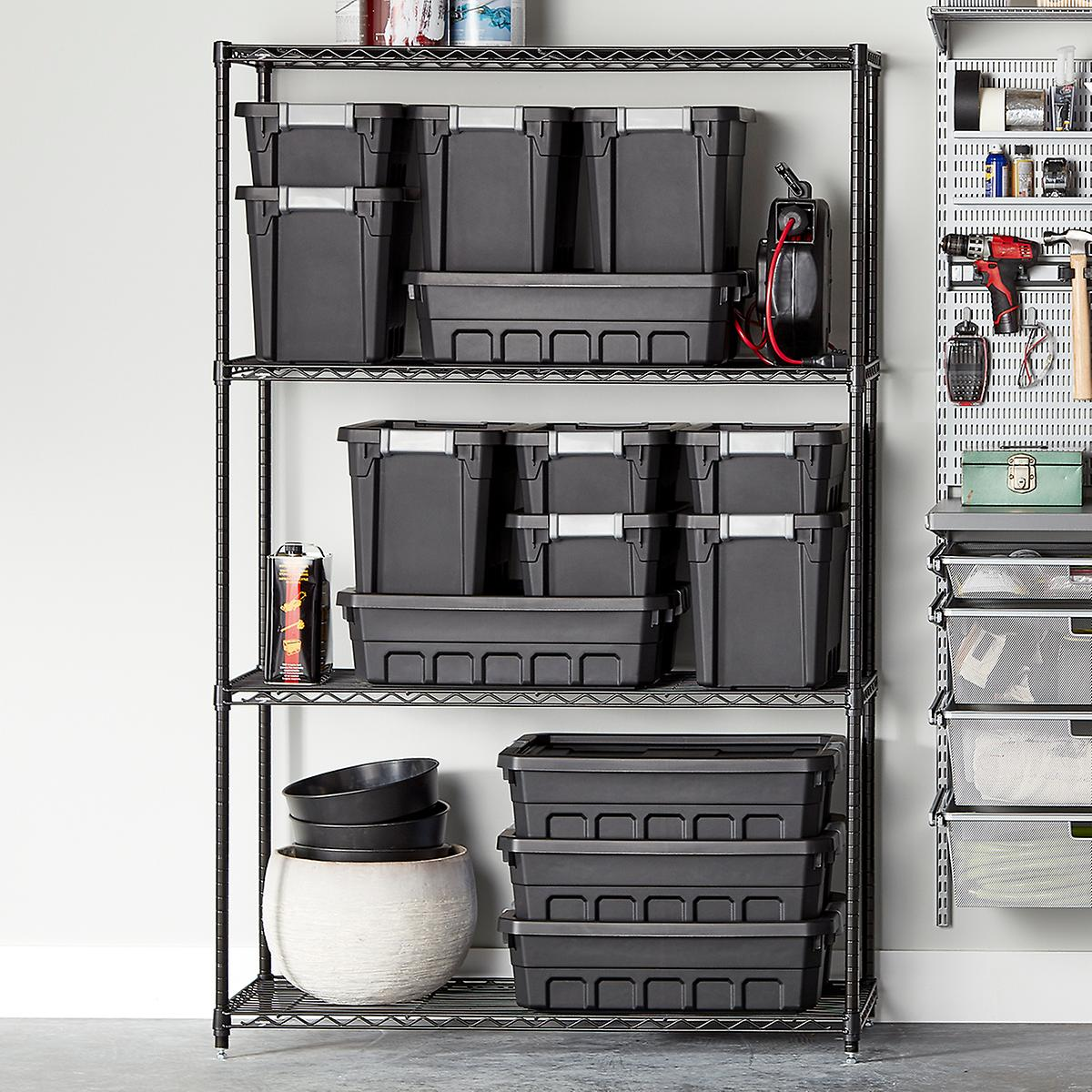 InterMetro Black Heavy-Duty Home Shelving