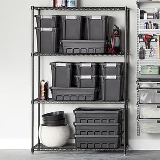 InterMetro Black 4-Shelf Starter Unit