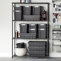 InterMetro Black Heavy-Duty Home Shelving Product Image