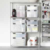 InterMetro Silver Heavy-Duty Home Shelving Product Image