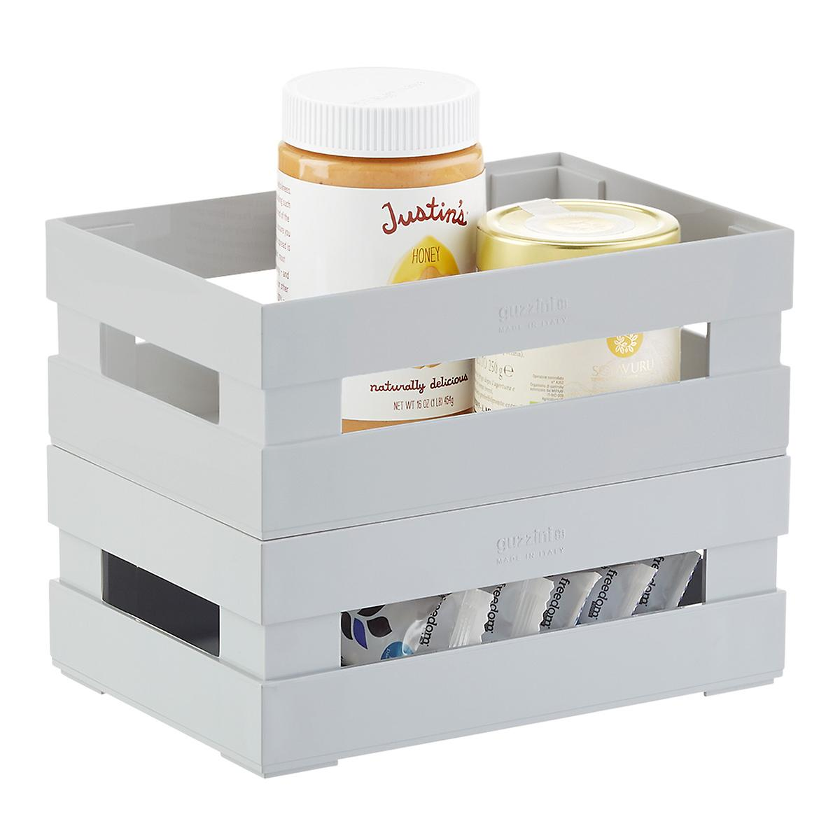 Kitchen Storage Bins: Guzzini Grey Italian Pantry Bins