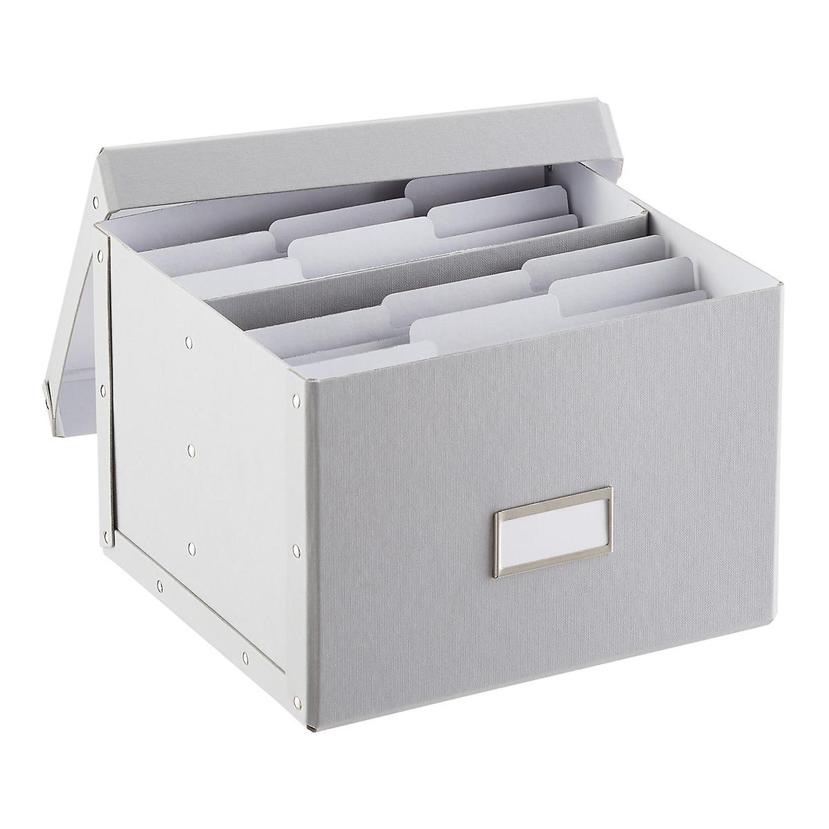 Bigso Light Grey Greeting Card Organizer