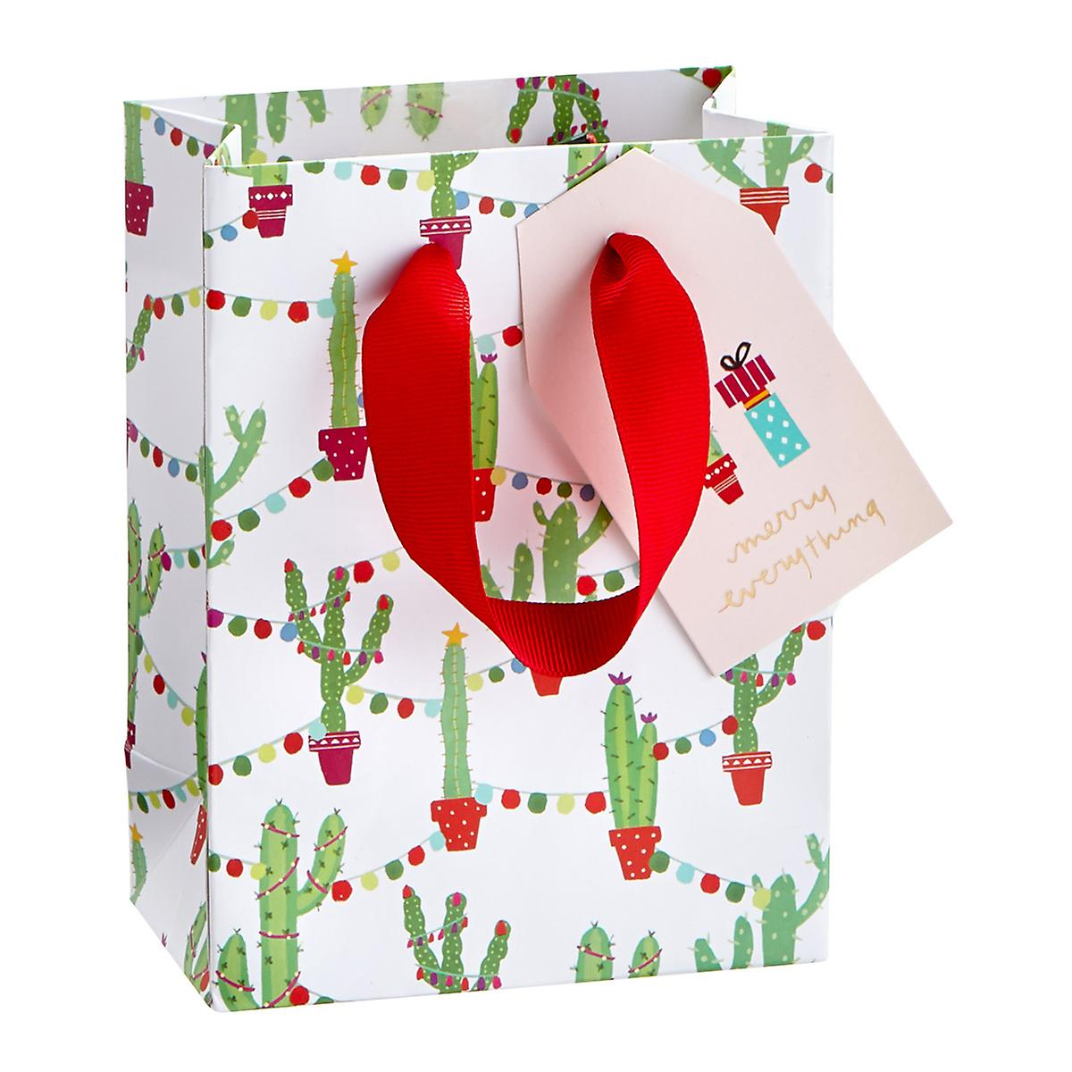 Cactus with Lights Small Gift Bag