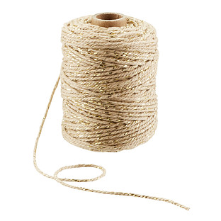 Taupe & Gold Cotton Twine