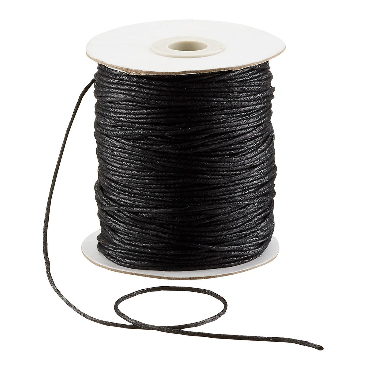 Black Waxed Cotton Cord