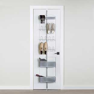 Platinum Elfa Utility Shoe Storage Door & Wall Rack