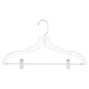 Crystal Clear Hangers with Clips Pkg/5