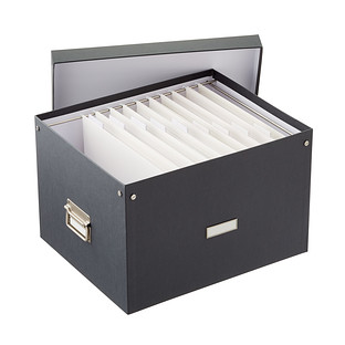 Bigso Graphite Stockholm Letter/Legal File Box