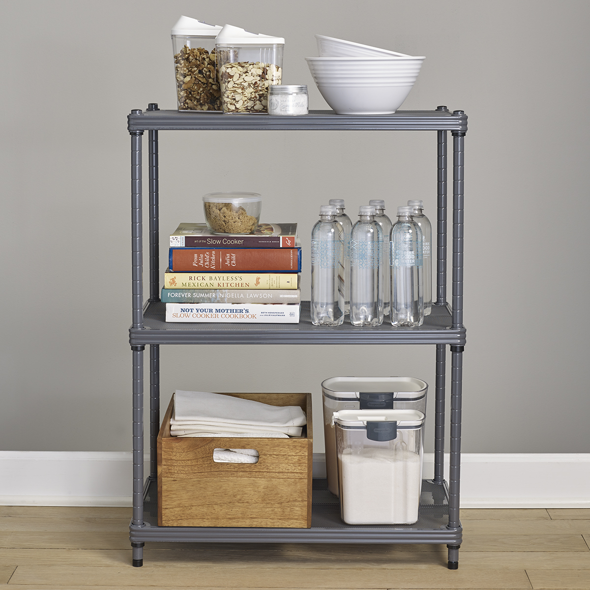 SoHo Grey Utility Shelving