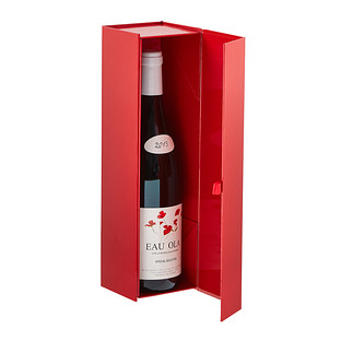 Collapsible Gloss Red Bottle Gift Box