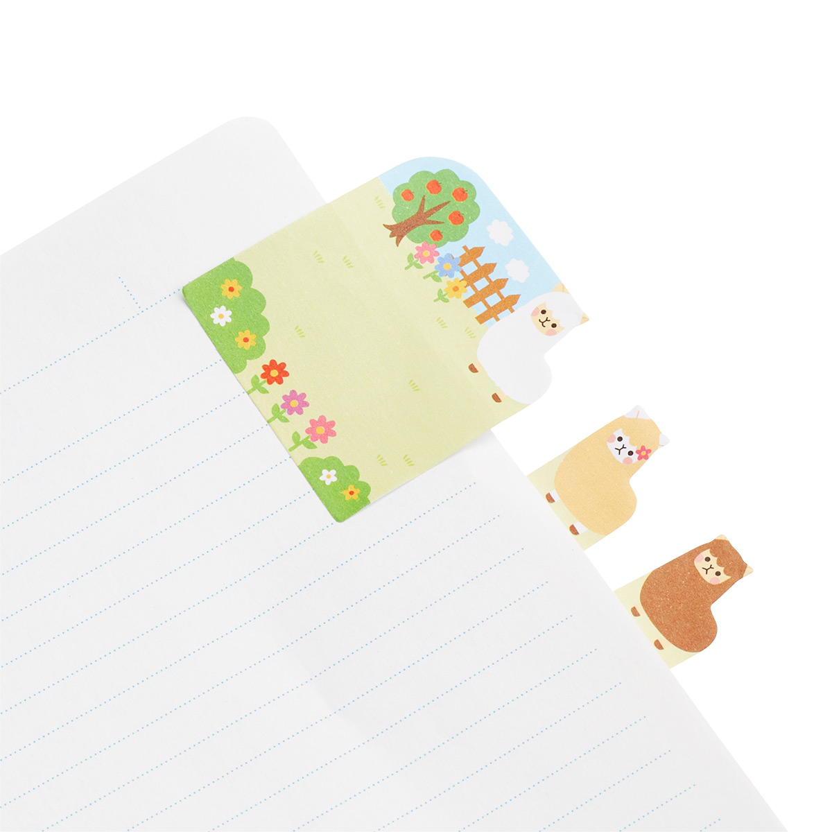 Ooly Alpaca Farm Note Pals Page Markers