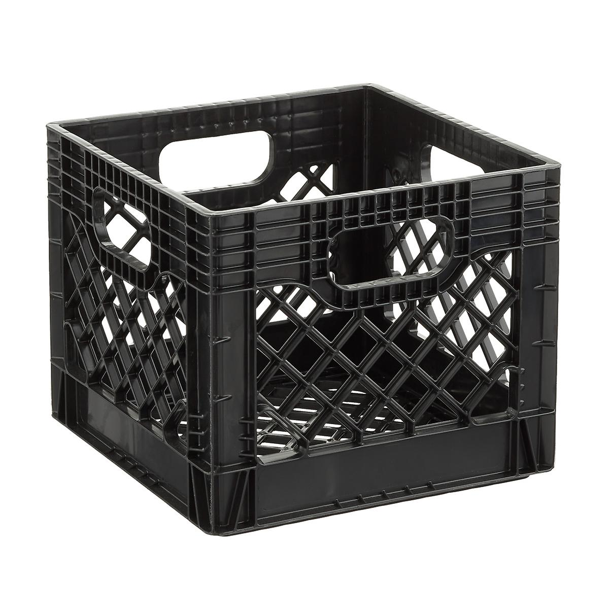 Black Authentic Milk Crate
