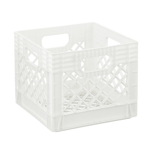 White Authentic Milk Crate