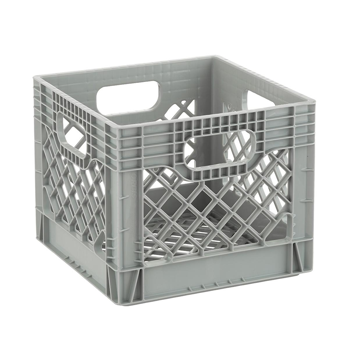 Grey Authentic Milk Crate