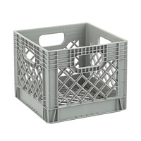 Grey Authentic Milk Crate Product Image