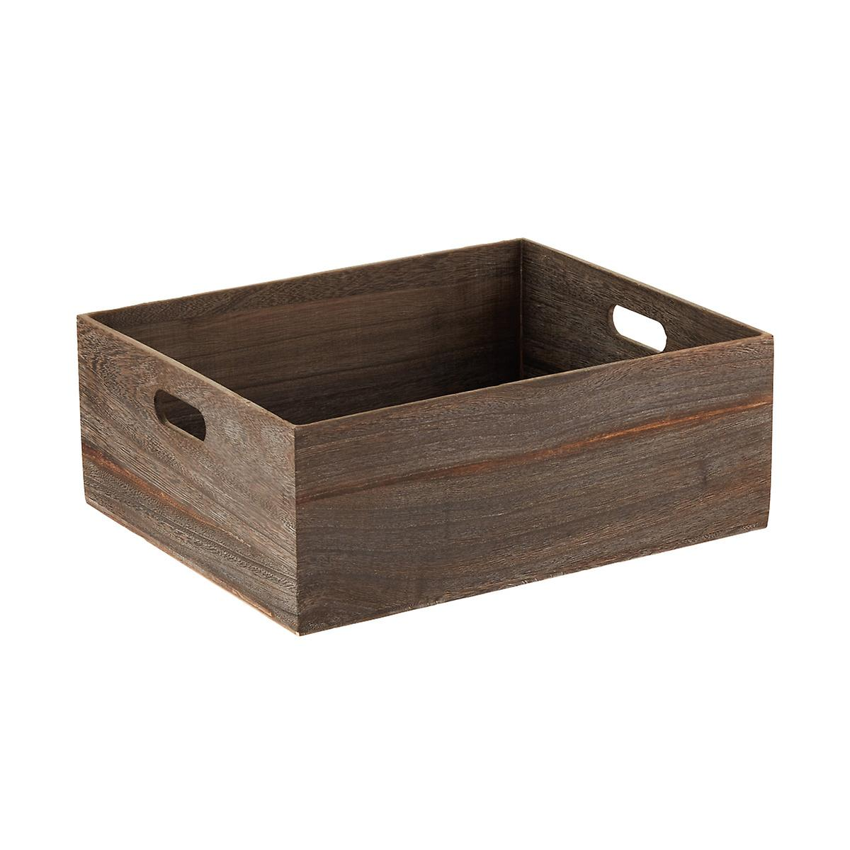 Feathergrain Wooden Storage Bins
