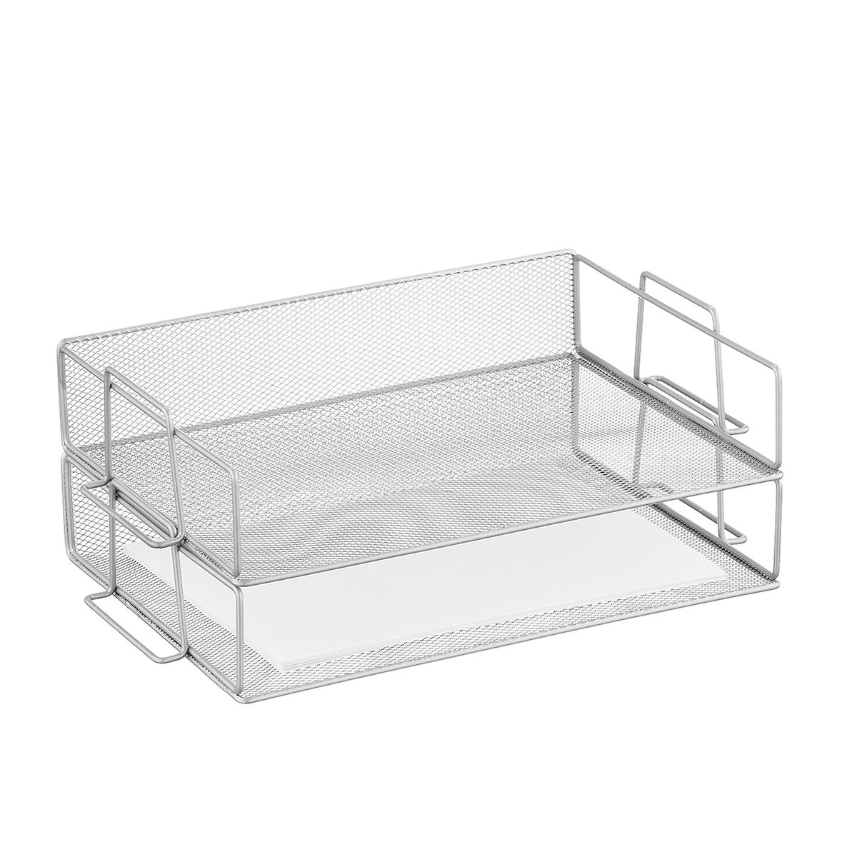 Silver Mesh Letter Tray