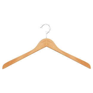 Oversized Natural Wooden Shirt Hanger Pkg/6