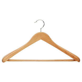 Oversized Natural Wooden Coat & Suit Hanger