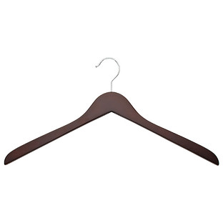 Oversized Walnut Wooden Shirt Hanger Pkg/6