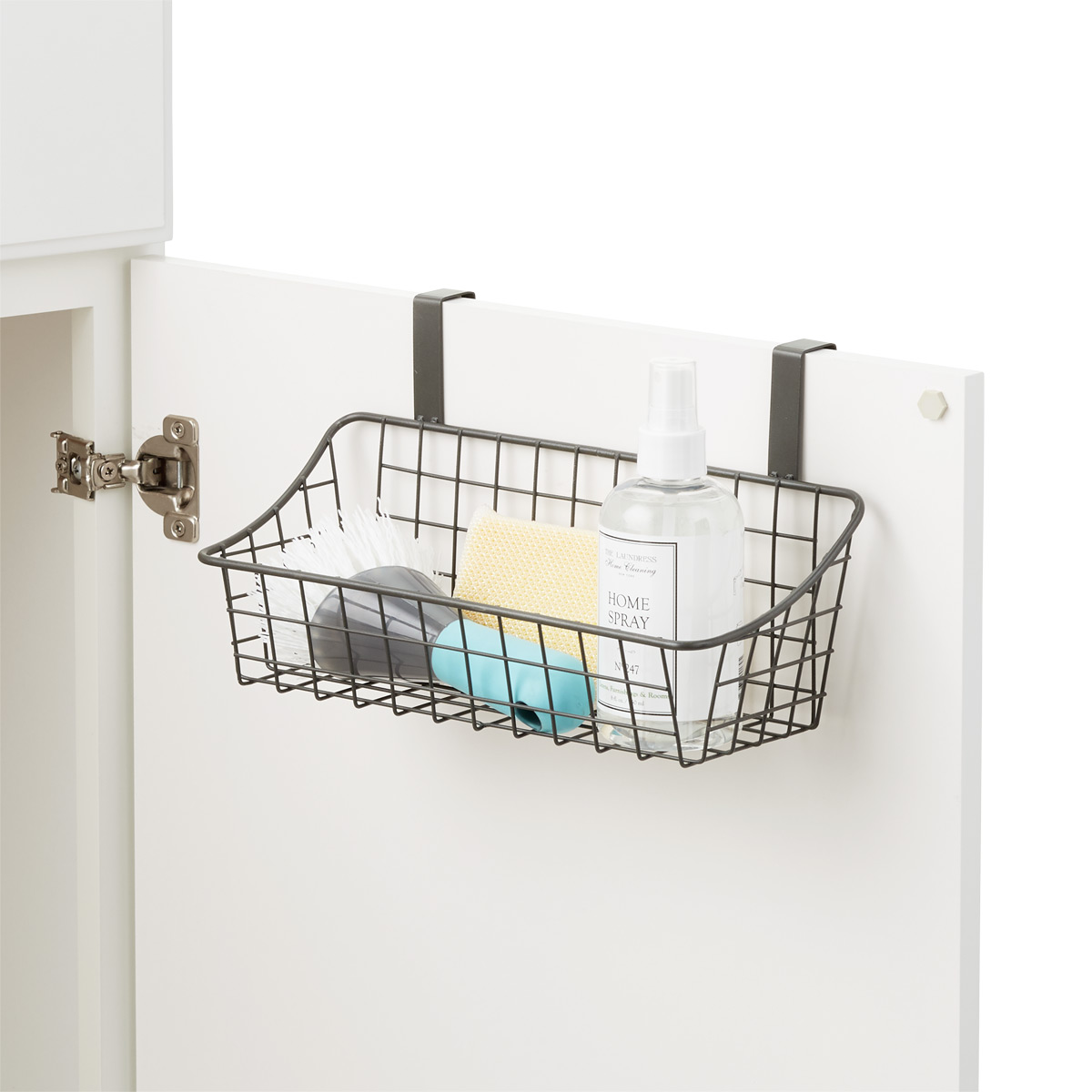 Small Grey Over the Cabinet Grid Basket