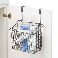 Large Grey Over the Cabinet Grid Basket