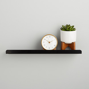 Umbra Black Simple Ledge Wall Shelf