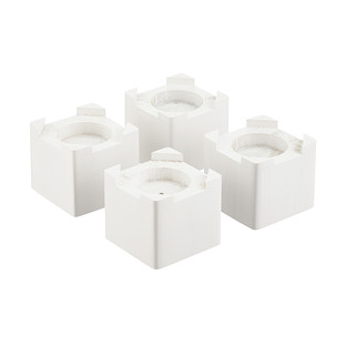 White Solid Wood Bed Risers Set of 4