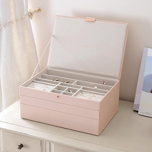 Stackers Blush Supersize Premium Stackable Jewelry Box