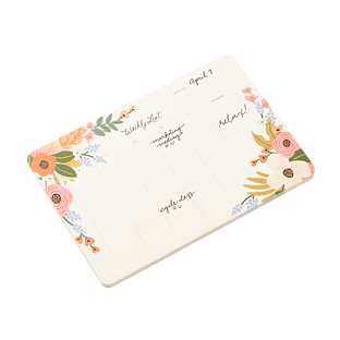 Rifle Paper Co. Lively Floral Weekly Notepad