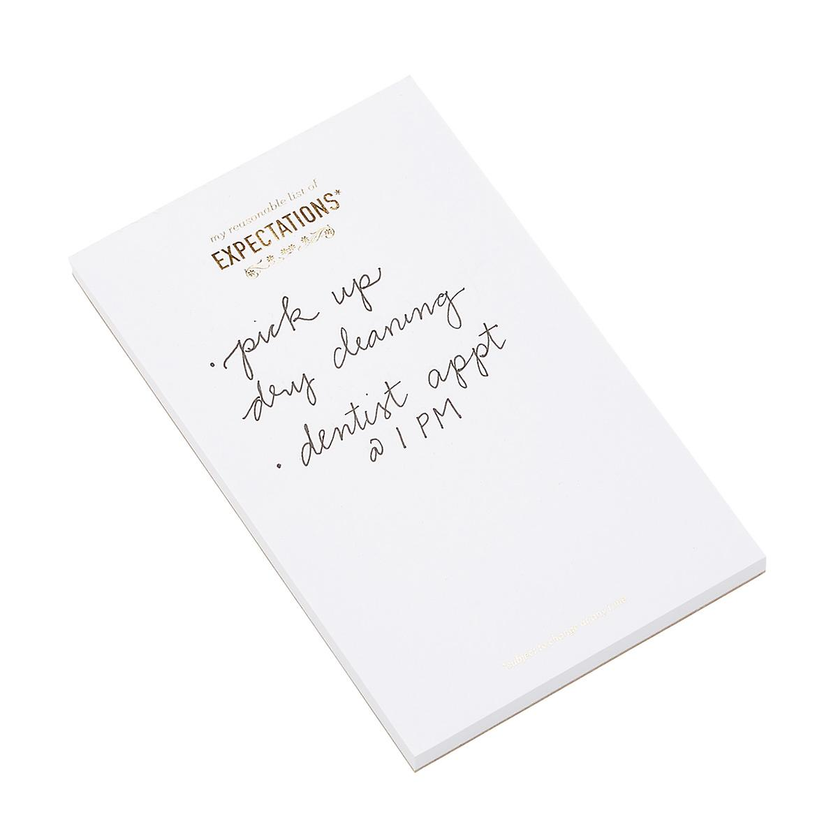 My Reasonable List of Expectations Notepad