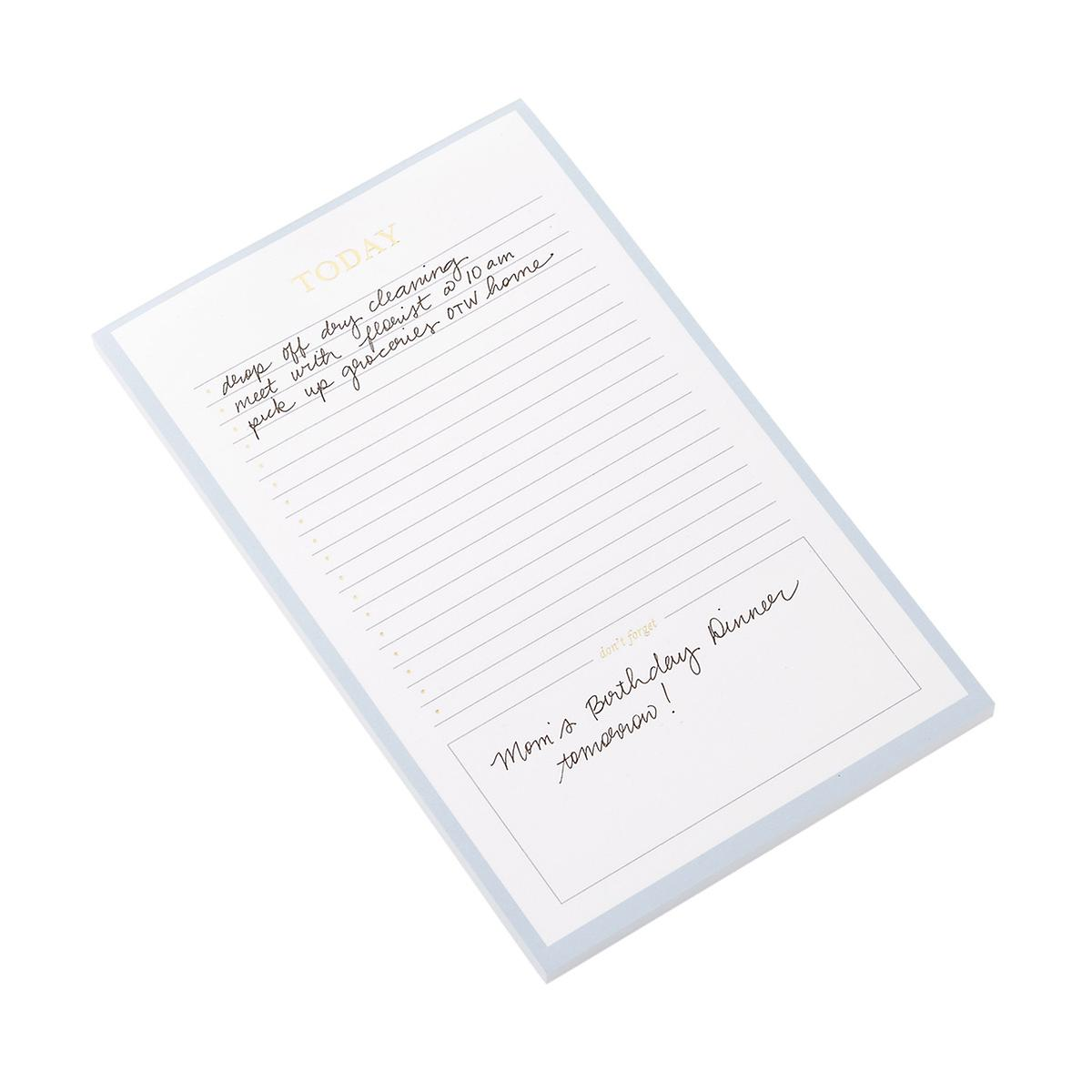Sugar Paper Today Lined Checklist Notepad