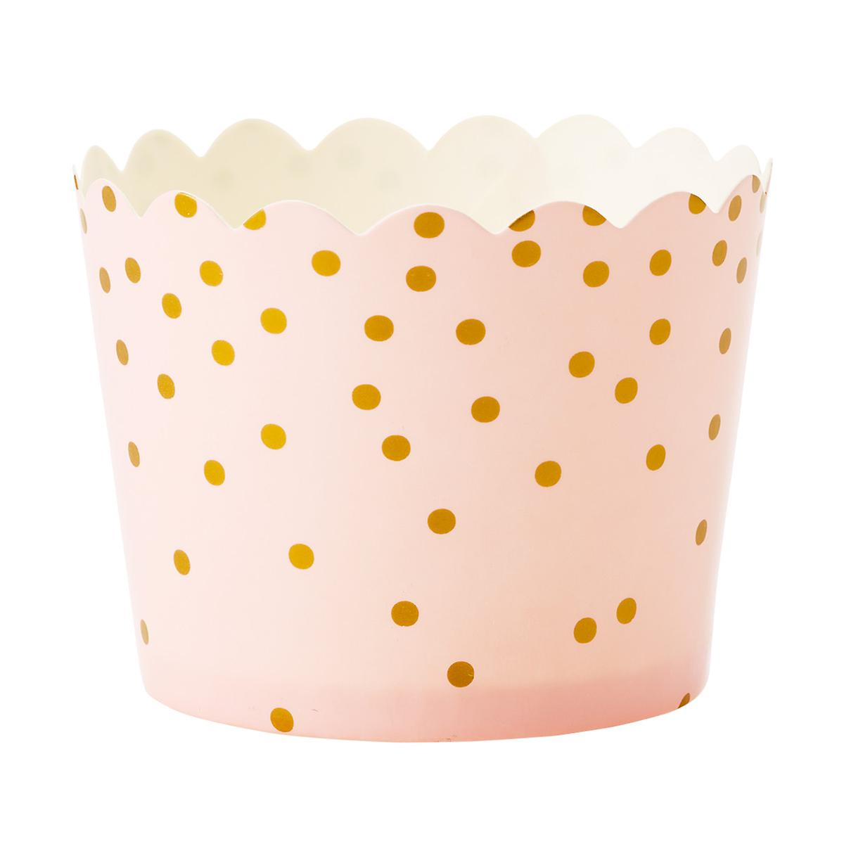 Small Pink Dot Baking Cups