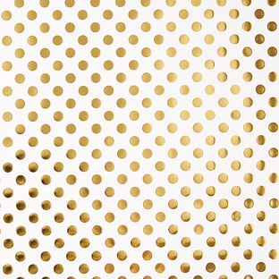 White with Gold Dots Wrapping Paper
