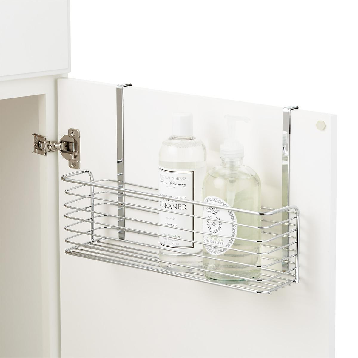 Chrome Over the Cabinet Wide Basket