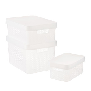 Curver Clear Infinity Plastic Storage Boxes with Lids