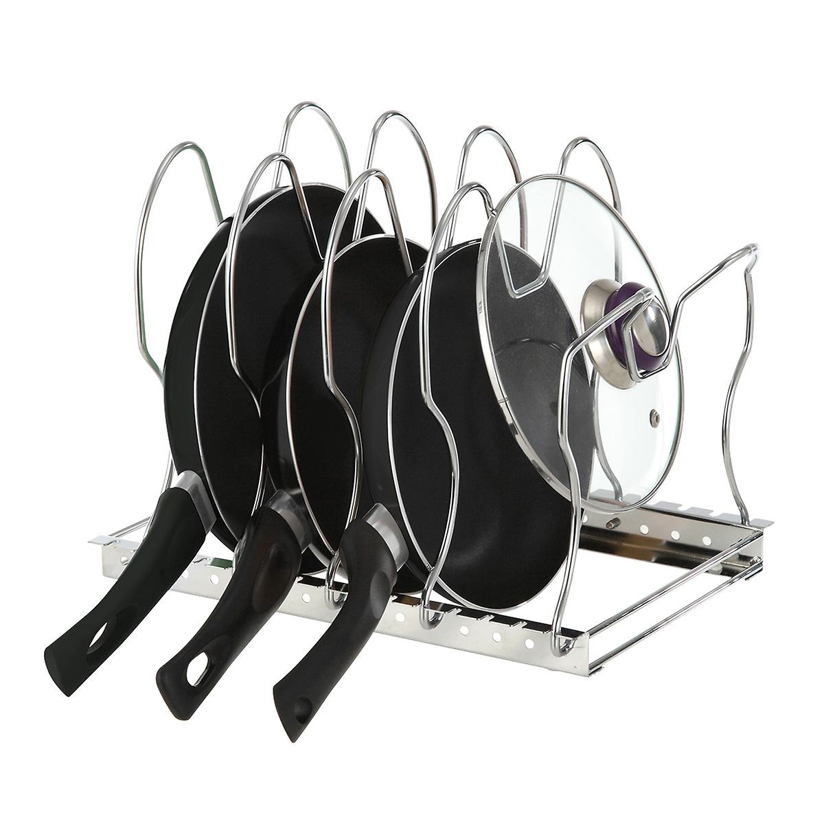 Chrome Cookware Organizer