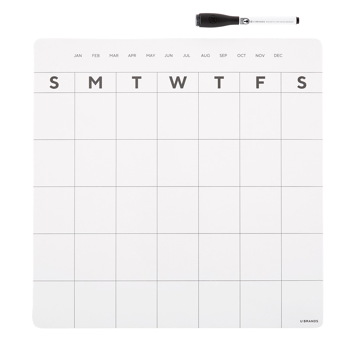 Magnetic Monthly Refrigerator Calendar