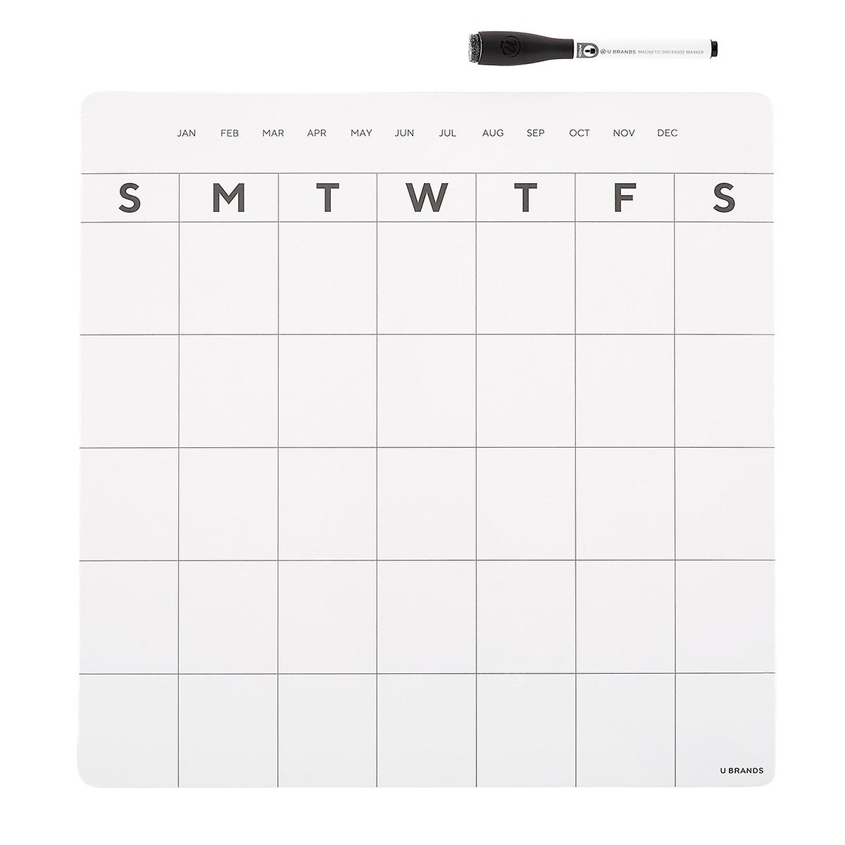 Magnetic Refrigerator Calendar