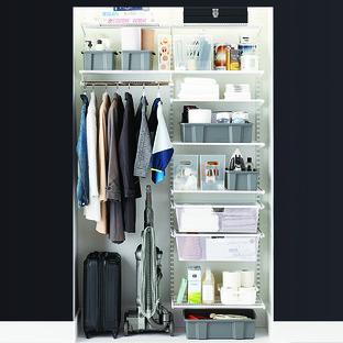 Elfa Classic 4' White Coat & Storage Closet