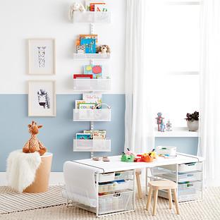 Elfa Utility Kids Playroom Door & Wall Rack