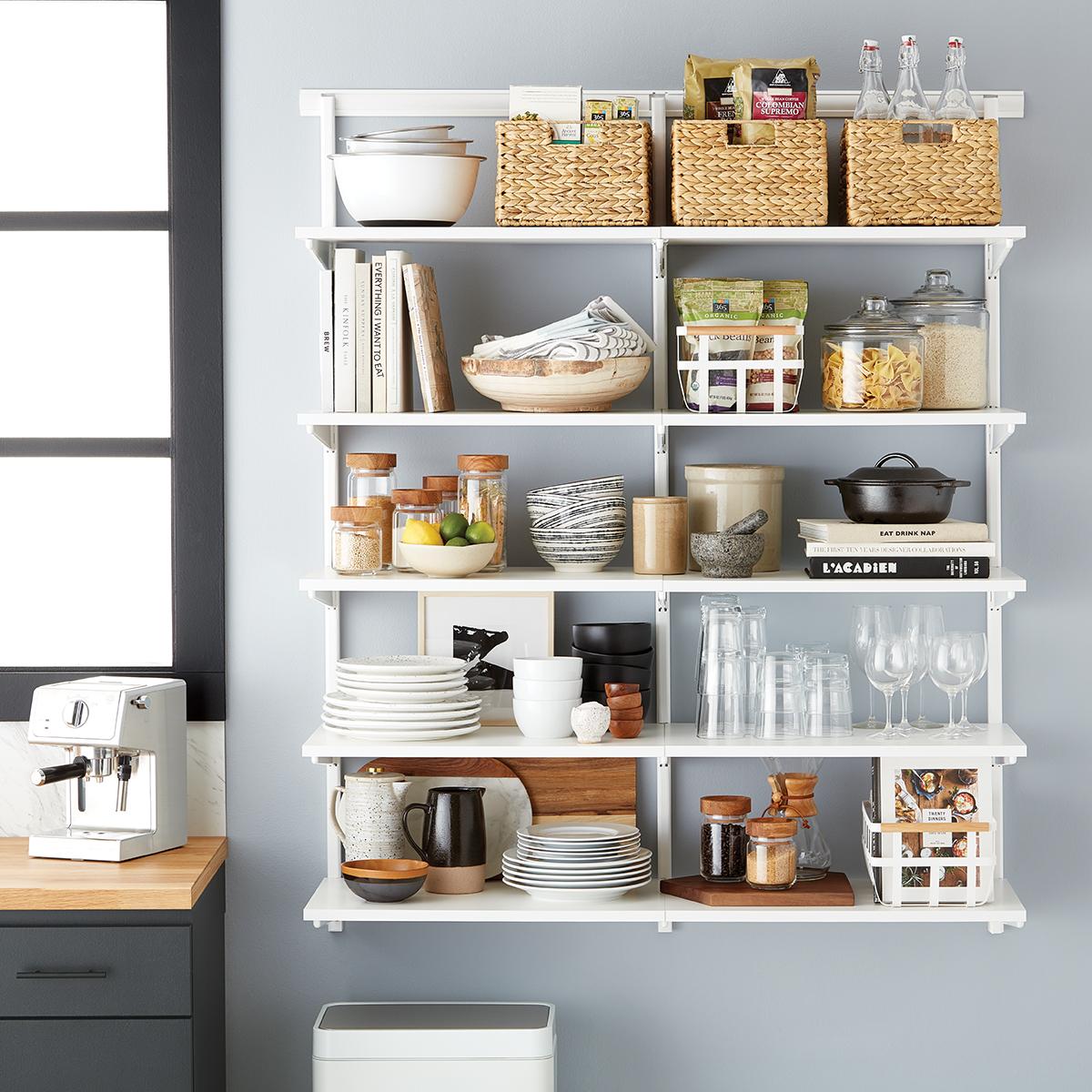 Elfa Classic 4' Open Kitchen Shelving