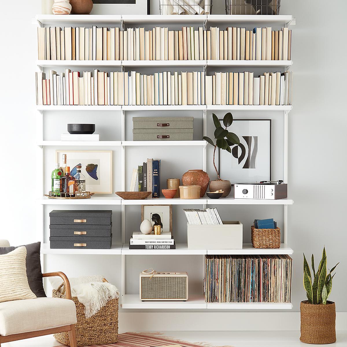 Elfa Décor 6' Bookshelf