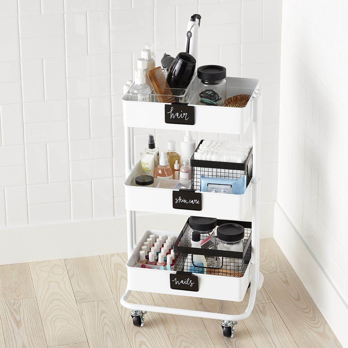 Toiletries Storage Cart Starter Kit