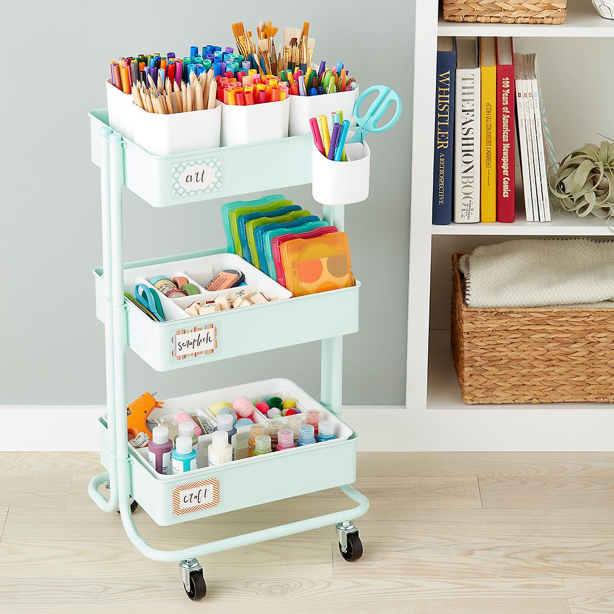 Arts & Crafts Storage Cart Starter Kit