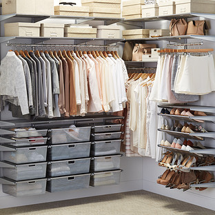 Platinum Elfa Walk In Closet The Container Store