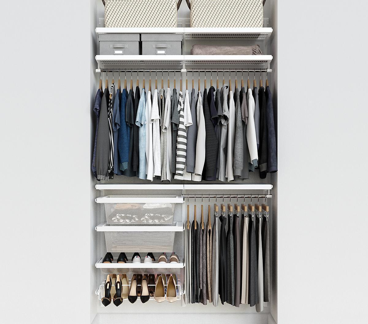 Elfa Décor 4' White Closet