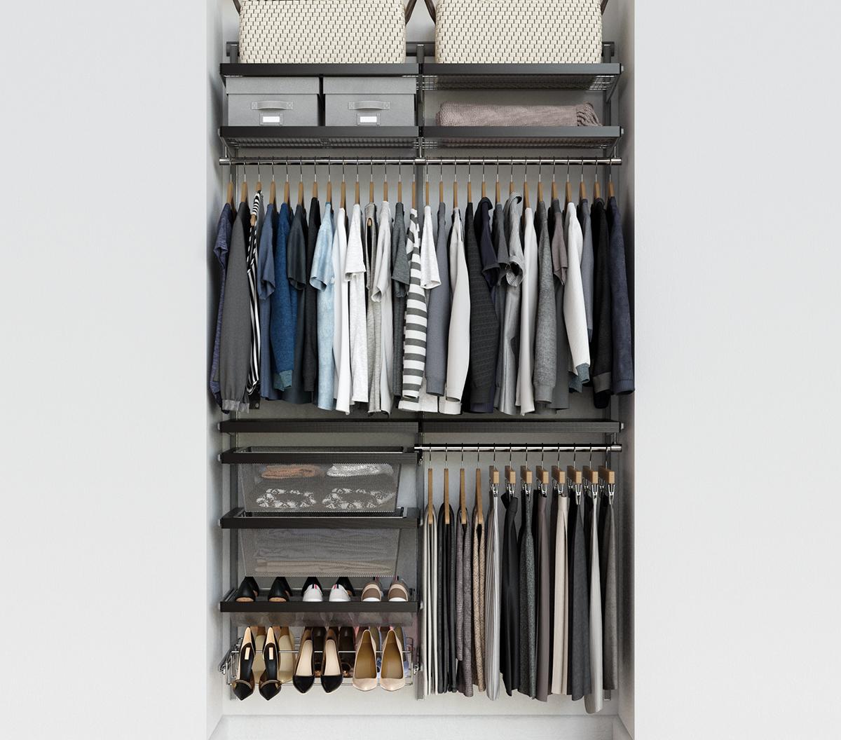 Elfa Décor 4' Walnut Closet